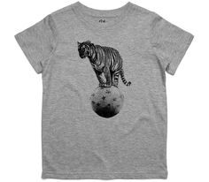 El Cheapo Circus Tiger (Black) Toddler Grey Marle T-Shirt