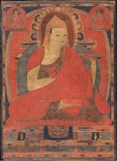Atisha.- Atisha (en bengali অতীশ দীপঙ্কর শ্রীজ্ঞান Ôtish Dipôngkor Srigên) né en 982 et mort en 1054, était un célèbre moine, érudit bouddhiste1 et maître de méditation indien (dynastie Pala).  Sa biographie traditionnelle, qui rappelle celle du Bouddha, en fait un prince. Il aurait étudié à Nalanda et se rendit à Sriwijaya (aujourd'hui Palembang) dans l'île indonésienne de Sumatra où il eut pour maître Dharmarakshita (tibétain : Serlingpa).