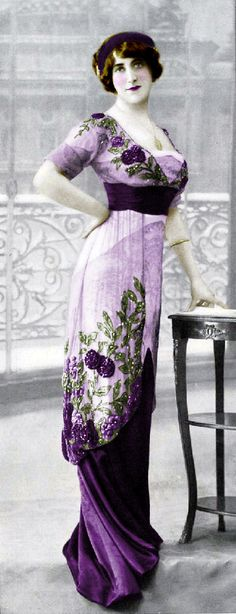 beautiful violet evening dress - early 1900's | JV