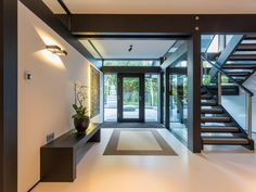 Gallery - HUF HAUS Huff House, Wall Finishes, Modern House Design, Heim, Modern Interior, House Viewing, Coach House, Wooden House, Building A House
