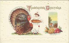 Antique Postcard Vintage Thanksgiving by postcardsintheattic, $12.95 New Listing #Ephemera #postcard #collectible #vintage  #antique  #papergoods  #Etsybot  #etsyshop  #etsyshopping  #postcardsintheattic  #Autumn #Fall #clown