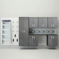 "Deluxe 6' H x 8' W x 17"" D 7 Piece Cabinet Set"