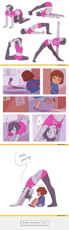 Mettaton and Frisk, Undertale - created via https://pinthemall.net--Well, this is adorable.
