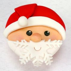 Santa Cupcake with Snowflake Beard
