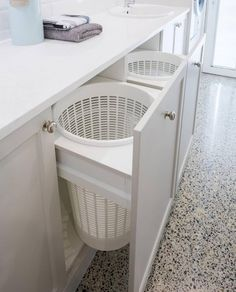 Wäscheecke Laundry Design And Manufacture Modern Laundry Rooms, Laundry Room Layouts, Laundry Room Remodel, Basement Laundry, Laundry Closet, Laundry Room Organization, Laundry In Bathroom, Hidden Laundry, Laundry Area