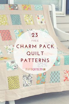 Grab your quilts, because we've got a list of 17 way you can turn them into charm quilt patterns, small quilt projects for your home, and more. You can make something as small as a quilt block look much more exciting with the right charm quilt pattern. Charm Pack Quilt Patterns, Charm Pack Quilts, Charm Quilt, Baby Quilt Patterns, Quilting Patterns, Quilting Ideas, Easy Patterns, Block Patterns, Diy Quilting