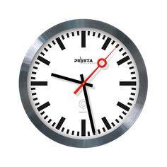 PEWETA railway style wall clock with radio control. 30 cm.