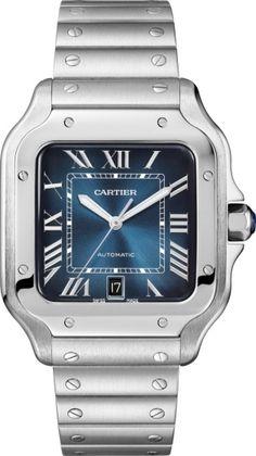 874f856cc7e4 CRWSSA0013 - Santos de Cartier watch - Large model, automatic, steel, two  interchangeable