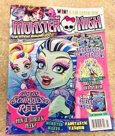 Monster High 2016 March Issue Just Released Great Scarier Reef New Magazine | eBay