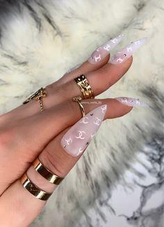 Personalized Stilettos Crystal Fake Nails by Kira B Ongles Bling Bling, Bling Nails, Summer Acrylic Nails, Best Acrylic Nails, Summer Stiletto Nails, Nail Swag, Glue On Nails, Gel Nails, Coffin Nails