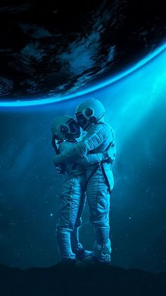 The latest iPhone11, iPhone11 Pro, iPhone 11 Pro Max mobile phone HD wallpapers free download, astronauts, hugs, love, space - Free Wallpaper | Download Free Wallpapers