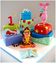 Tigger Birthday Cake Sydney, Tigger, Winnie The Pooh, Piglet, Eeyore Cake - Birthday Cakes, 1st Birthday Cakes, Kid Birthday Cakes by EliteCakeDesigns Sydney