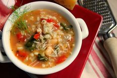 Bean & Barley Soup SUCH A WONDERFUL HEARTY SOUP TO SERVE YOUR CHURCH FRIENDS OR YOUR FAMILY. EVERYONE WILL LOVE THIS DELICIOUS SOUP, THEY WILL PROBABLY BE ASKING FOR SECONDS. SO MAKE ENOUGH...ENJOY