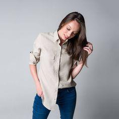 Tops, Women, Fashion, Cotton Shirts, Linen Shirts, Green Cotton, Black White, Moda, Women's