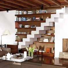 Under stairs storage idea for small spaces