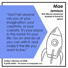 Trendy women in STEM fields to inspire today's teens in areas of Math and Science Education - a series of 4 posts for Women's History Month Math Teacher, School Classroom, Teacher Stuff, Classroom Ideas, Stem Fields, Fun Math, Math Math, Inquiry Based Learning, Secondary Math