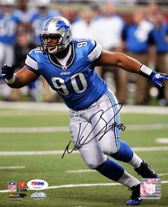 Ndamukong Suh Autographed 8x10 Photo Detroit Lions PSA/DNA Stock