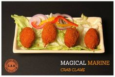 Crab Claws | Coffee & Bread Art Cafe | Pune Restaurant Finder, Coffee Bread, Bread Art, Kitchen Supplies, Pune, Claws, Strawberry, Fruit, Food