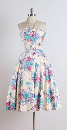 Tema de Junior. vestido vintage de los años por millstreetvintage