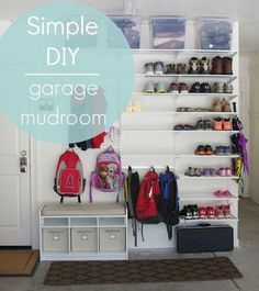 Simple DIY: elfa Garage Mudroom| Simply Organized