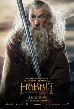 The Hobbit: The Desolation of Smaug Gandalf French Poster