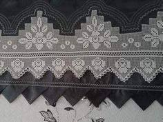 Garden Pond Design, Hand Applique, Valance Curtains, Diy And Crafts, Knit Crochet, Knitting, Craft, Vestidos, Tricot Crochet