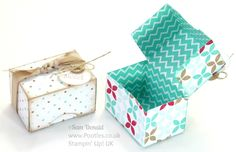 Adorable Mini Box Tutorial using Stampin' Up DSP Stack by Pootles Papercraft.  Pinned by Colleen Hastings