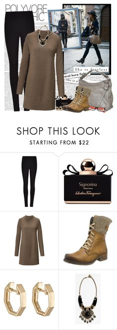 """""""My Outfit of the Day"""" by fashionistlady ❤ liked on Polyvore featuring Winser London, Salvatore Ferragamo, Rieker and Finn"""
