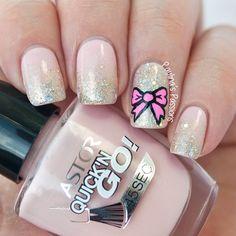 Girly Bow Nail Art (via Bloglovin.com )