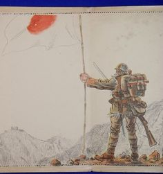 "1930's Second Sino-Japanese War Letter Sheet ""Shining Sun Flag"" / vintage antique old military war art card / historic history paper material Japan - Japan War Art"
