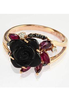 Black & White Diamond 14k Rose Gold Ring
