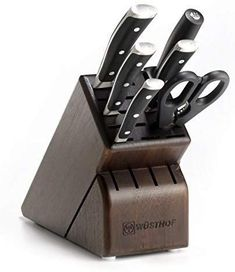 Wusthof 834733 Classic IKON Seven Walnut Block German Precision Forged High Carbon Stainless Steel Kitchen Knife Set -- To view further for this item, visit the image link-affiliate link. Knife Block Set, Knife Sets, Wusthof Knives, Wusthof Classic, Best Kitchen Knives, Kitchen Gadgets, Cooks Knife, Specialty Knives, Utility Knife