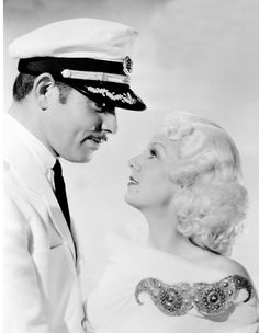 Clark Gable and Jean Harlow in China Seas (1935)