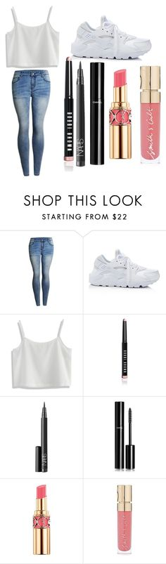 """Galvatron Goes After You: Shane"" by scarletpeak ❤ liked on Polyvore featuring NIKE, Chicwish, Bobbi Brown Cosmetics, NARS Cosmetics, Chanel, Yves Saint Laurent and Smith & Cult"