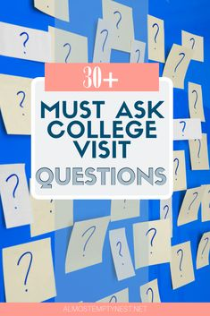 College Visit Checklist: 30+ Must Ask College Visit Questions. Don't leave home or take a virtual college visit without a college visit checklist. Find out the things you need to know about each school with these college visit tips. #almostemptynest #collegevisit College Success, College Fun, College Campus, College Tips, College Students, College Dorm Checklist, College Planner, Freshman Advice, Senior Year Of High School