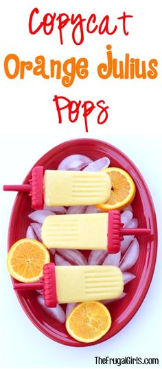 Copycat Orange Julius Popsicles Recipe at TheFrugalGirls.com