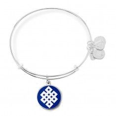 Alex and Ani Blue Endless Knot Charm Bangle - Top