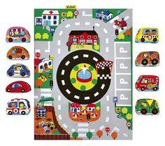 K's Kids, Mata z samochodzikami, miasto Fisher Price, Calendar, Kids Rugs, Holiday Decor, Cards, Clover, Home Decor, Products, Decoration Home