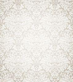 cream damask Backdrop  white damask floral by BestBackdropCenter
