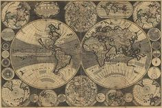 A new and correct map of the world : laid down according to the newest…