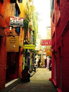 Colorful London, England. I could live on this little street. I already have a place to get my hands and toes done.