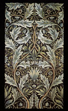 William Morris Tiles: Panel of 36 tiles for Membland Hall, 1876