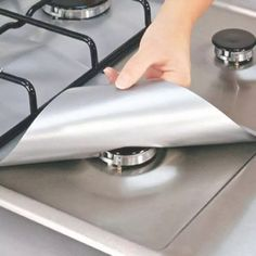 This Gas stove top protector will save you cleaning time in the kitchen and keep your stove looking brand new for years to come #clutterfreekitchen