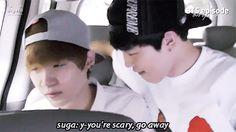 Jimin you heard suga, you're scary (don't listen though) (*^﹏^*)
