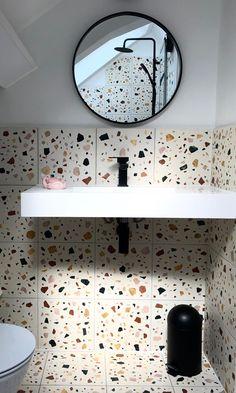 First Home, Terrazzo, Tiles, Mirror, Bathroom, Furniture, Home Decor, Room Tiles, Washroom