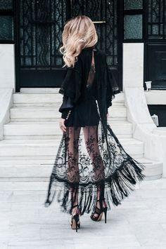 Black lace kimono. www.publicdesire.com