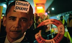 """President Barack Obama described climate change as a """"creeping national security crisis"""" that will require the armed forces to """"respond to refugee flows, natural disasters, and conflicts over water and food."""""""