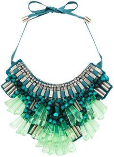 #MatthewWilliamson Opulent Necklace in Blueneon - Lyst