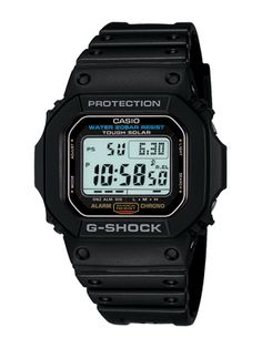 Casio G-Shock : Tough Solar Powered Street Fashions Series (July 2009 Model) Casio Watch # G-5600E-1 (Men Watch). Please visit us at the following URL: http://www.bodying.com/casio-g-shock-tough-g-5600e-1/watches/19499