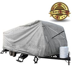 New Easy Setup Travel Trailer Cover Fits RV Camper W Assist Steel Pole (22'-24') Leader Accessories http://www.amazon.com/dp/B014R1CBFY/ref=cm_sw_r_pi_dp_vFCawb0XNWJNX
